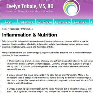 Inflammation and Nutrition Screen shot